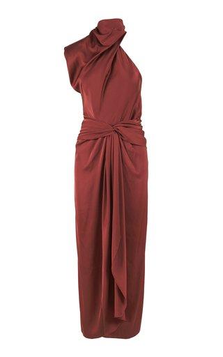 Story Teller Silk-Blend Midi Dress