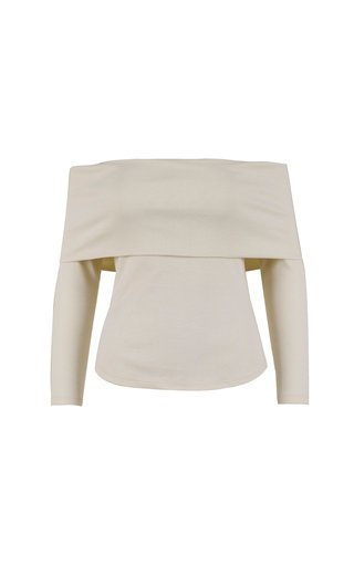 No Boundaries Ribbed-Knit Off-The-Shoulder Top