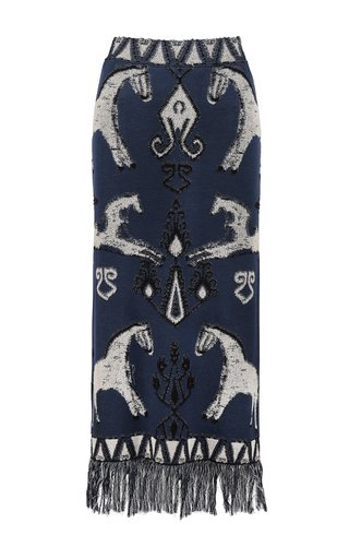Chauvet Jacquard-Knit Cotton Maxi Skirt