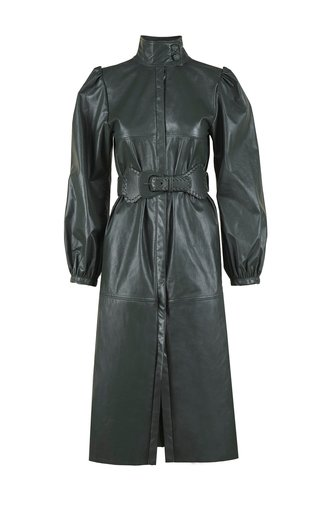 Hunting Ground Trench coat Leather Jacket