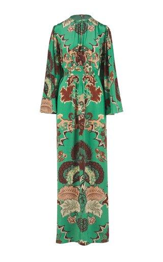 Mystical Importance Printed Silk Maxi Dress