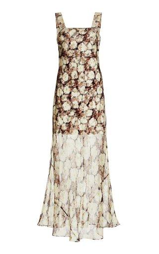 Sofia Floral Silk Maxi Dress