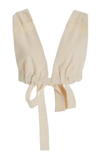 Marne Tie-Detailed Cotton Crop Top