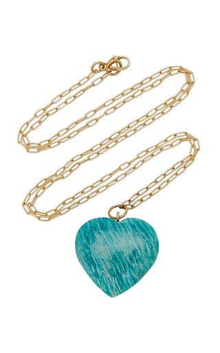 18k Yellow Gold Amazonite Necklace