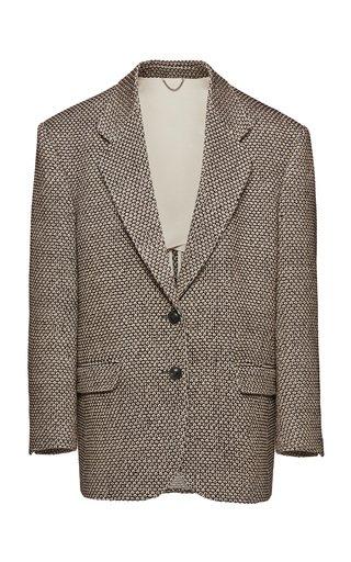Oversized Cotton-Blend Blazer
