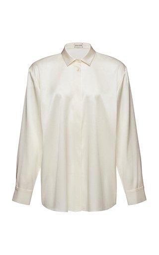 Collared Silk-Blend Shirt