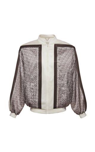 Color-Blocked Silk-Blend Jacket