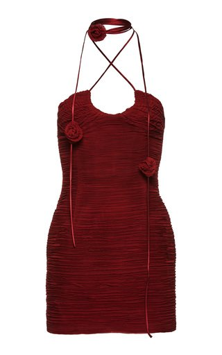 Fitted Silk-Blend Mini Dress