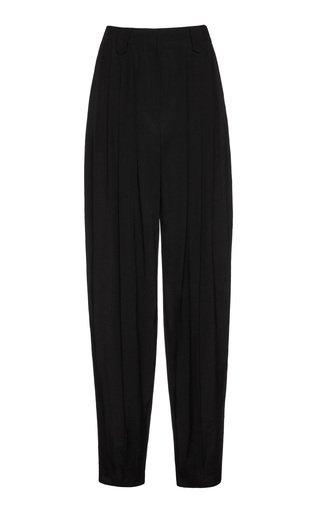 High-Waisted Crepe Pants
