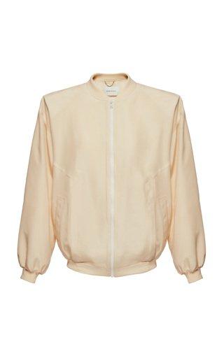 Collarless Silk Jacket