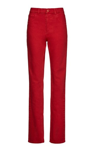 Rigid High-Waist Straight-Leg Jeans