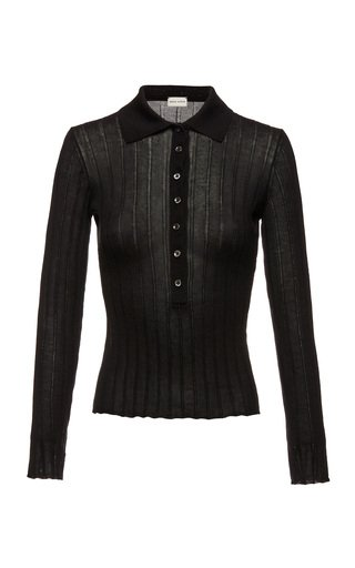 Rib-Knitted Wool-Cashmere Top