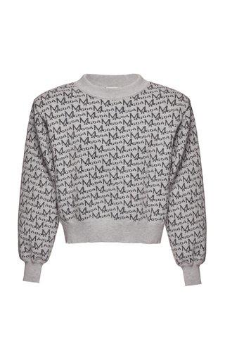 Printed Wool-Blend Top