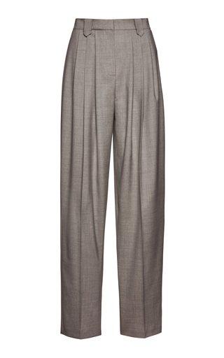 Pleated Wool Pants