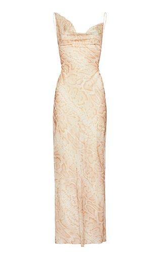 Python-Print Silk Blend Dress