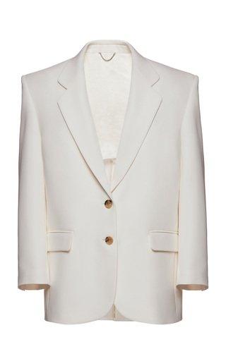 Collared Silk Blazer