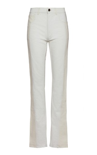 Rigid Mid-Rise Flared Jeans