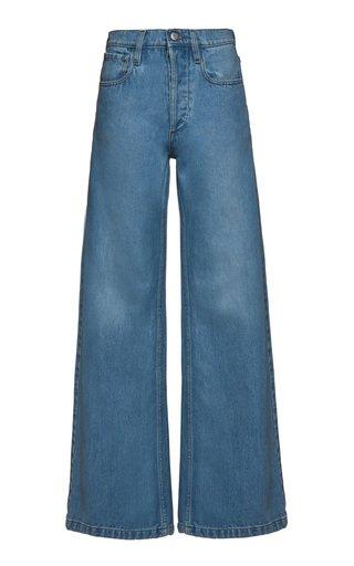 Rigid Mid-Rise Wide-Leg Jeans