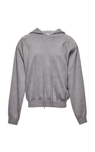 Hooded Cashmere-Cotton-Wool Sweatshirt