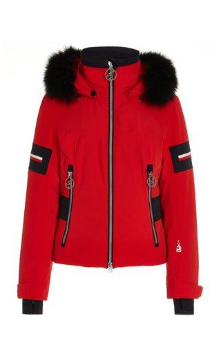Mavie Fur-Trimmed Shell Jacket