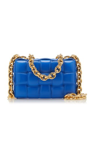 The Chain Padded Cassette Leather Bag