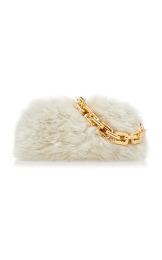 The Chain Pouch Shearling Bag