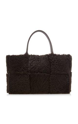 Arco Large Shearling Tote Bag