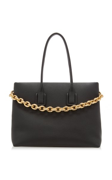 The Chain Leather Tote Bag
