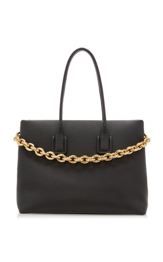 The New Chain Leather Tote Bag