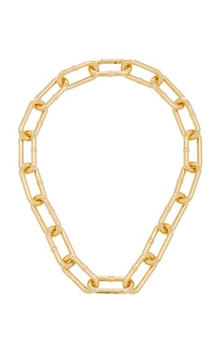 18K Gold-Plated Chain-Link Necklace