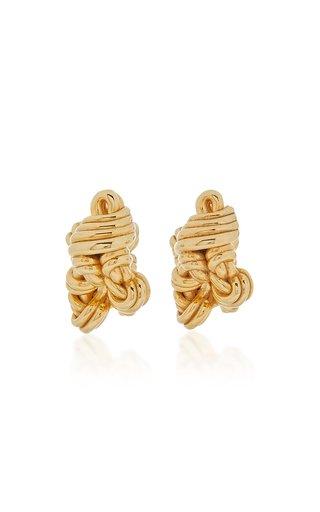 Twist Cluster 18K Gold-Plated Hoop Earrings