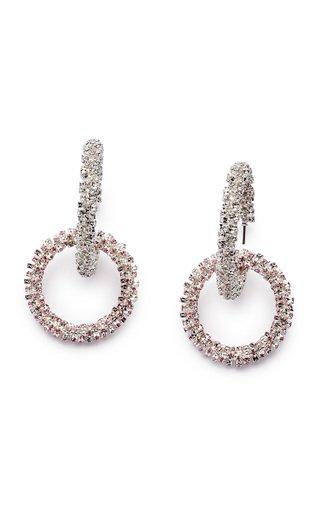 Double Hoop Crystal Earrings