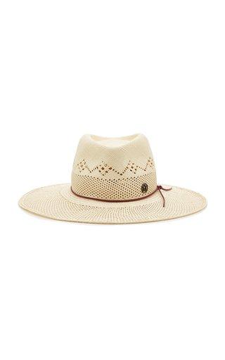 Charles Straw Wide-Brim Hat