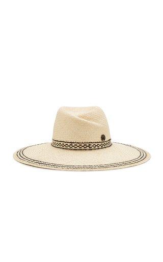 Virginie Straw Wide-Brim Hat