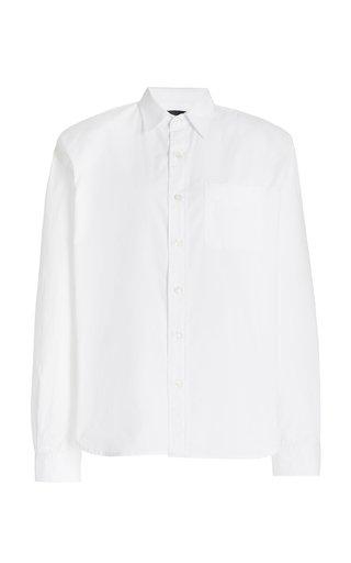 Padded-Shoulder Cotton Shirt