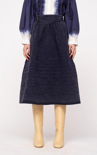 Maura Acid Wash Denim Skirt