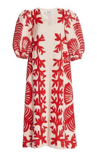 Henrietta Printed Cotton Midi Dress