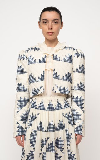 Gloucester Gingham Quilted Cotton Jacket