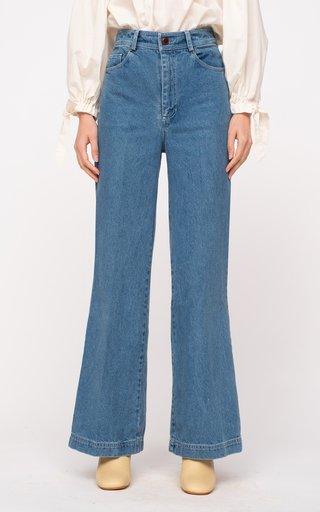 Alyssa Rigid Mid-Rise Straight-Leg Jeans