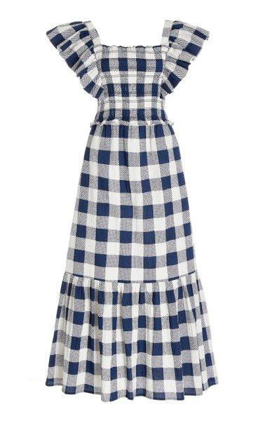 Morgan Smocked Gingham-Cotton Dress