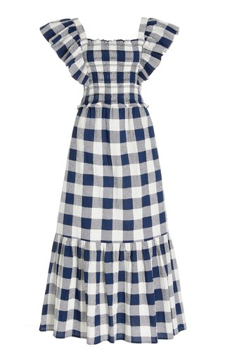 Morgan Smocked Gingham-Cotton Dress