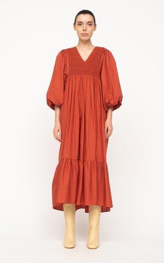 Gladys Hand-Smocked Cotton Dress
