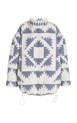 Gloucester Gingham Cotton Puffer Jacket