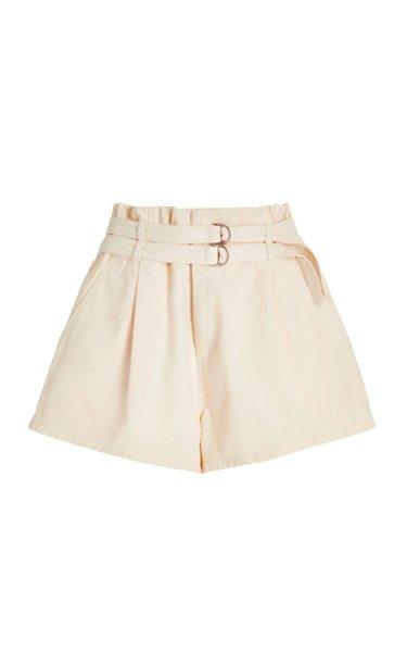 Evelina Belted Cotton Shorts