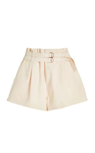Evelina Belted Cotton Shorts