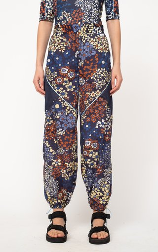 Enora Floral-Printed Shell Track Pants