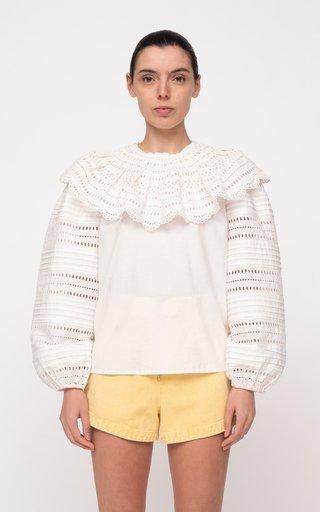 Lina Eyelet Cotton Top