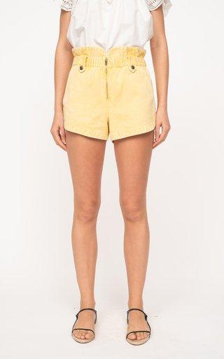 Maura Acid-Wash Cotton Shorts