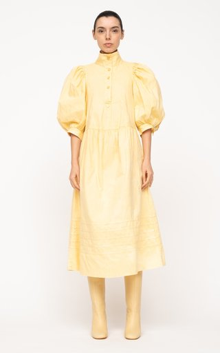 Maura Acid-Wash Cotton Dress