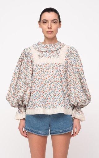 Bubbie Floral-Printed Cotton Top